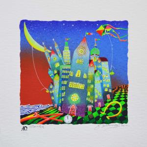 Meloniski - Metropoli surreale - Serigrafia retouchè - Form. cm 35x35
