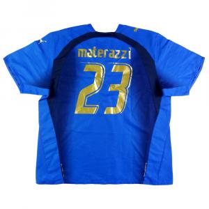 2006-07 Italia Maglia Home #23 Materazzi XXL (Top)