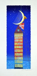 Meloniski - Concertino per arpa sponsorizzato - Serigrafia retouchè - Form. cm 80x40
