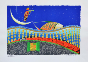 Meloniski - Situazione surreale - Serigrafia retouchè - Form. cm 60x80