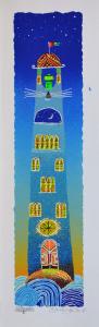 Meloniski - Palazzo fiabesco - Serigrafia retouchè - Form. cm 50x15
