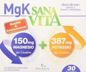 SANAVITA MGK A BASE DI MAGNESIO E POTASSIO - INTEGRATORE ALIMENTARE IN BUSTINE