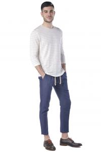 T-shirt uomo Hamaki-Ho manica lunga in lino beige chiaro a1110438447