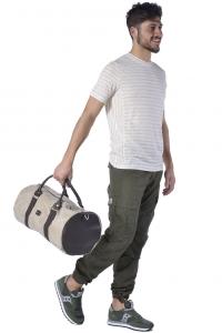 T-shirt uomo Hamaki-Ho manica corta in lino beige chiaro 62a4caab755