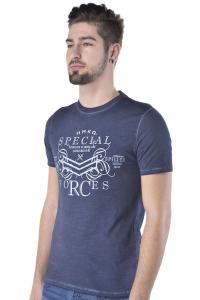 T-shirt uomo Hamaki-Ho in cotone effetto delave  blu scuro b58f9462a96