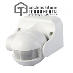 Sensore Movimento Infrarossi IP44 180° 12mt 300W