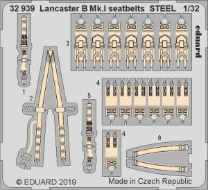 Lancaster B Mk.I seatbelts STEEL
