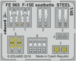 F-15E seatbelts STEEL