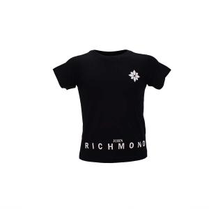 T-Shirt con stampe fiore e scritta