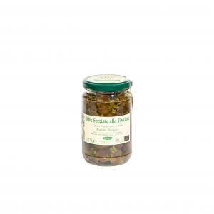 Olive speziate alla Toscana biologiche - 270gr