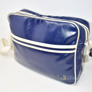 Borsa Fred Perry Blu Bianca A Tracolla
