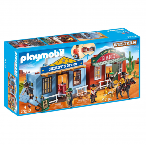 PLAYMOBIL VILLAGGIO WESTERN PORTATILE 70012