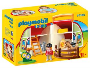 PLAYMOBIL MANEGGIO PORTATILE 1.2.3. 70180