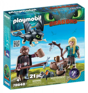 PLAYMOBIL HICCUP E ASTRID CON BABY DRAGON 70040