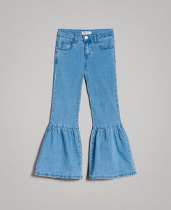Jeans azzurri con balze