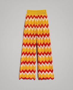 Pantalone jacquard multicolore