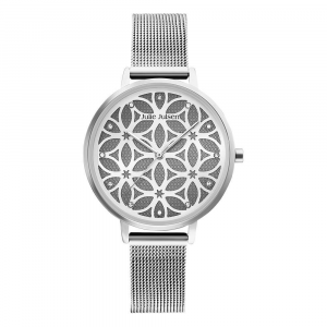 JULIE JULSEN FLOWER OF LIFE SILVER MESH