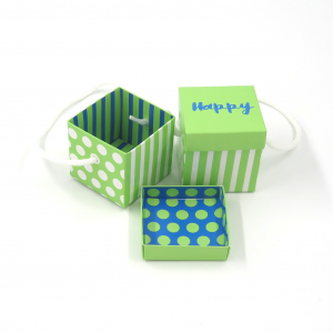 Scatolina Happy Verde / Blu