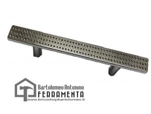 Maniglia per mobili moderna cromo lucido con zirconi squadrata