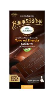 L'ANGELICA CIOCCOLATA BUONISSIMA FONDENTE 72% - TONO ED ENERGIA