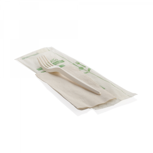 Forchetta biodegradabile imbustata singolarmente MaterBi