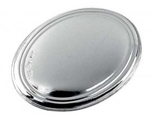 Blasone placca ovale in argento cm.8x5,5x0,3h