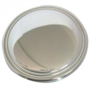 Blasone placca tondo in argento cm.0,3h diam.4,8