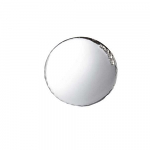 Blasone placca tondo liscio in argento cm.0,3h diam.3