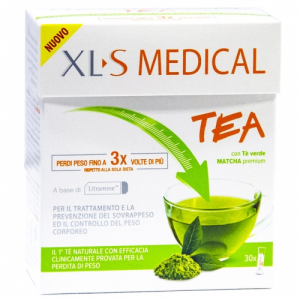 XLS MEDICAL TEA 30 STICK CON TE' VERDE MATCHA PREMIUM
