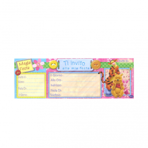 Invito per compleanno Winnie The Pooh