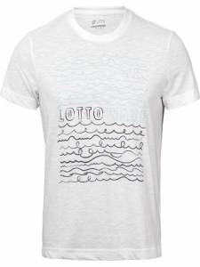 T SHIRT LOTTO L73 3 TEE BEACH T3133 WHITE NAVY