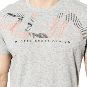 T SHIRT LOTTO T2674 TEE RUN GRY DKM/BLK