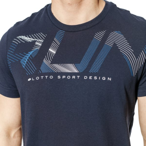 T SHIRT LOTTO T2673 TEE RUN  NAVY/WHT