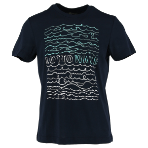 T SHIRT LOTTO T3134 TEE BEATCH NAVY/WHITE