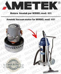 931  Ametek Vacuum Motor for Wet & Dry vacuum cleaner WIRBEL