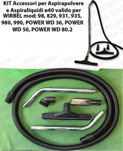 Kit accessoires pour les aspirateurs ø40 valide pour 98, 829, 931, 935, 980, 990, POWER WD 36, POWER WD 50, POWER WD 80.2