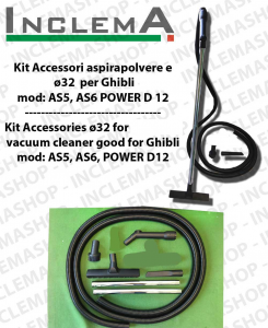 KIT Accesorios  aspiradora ø32 válido para GHIBLI mod: AS 5 , AS 6 , POWER D12