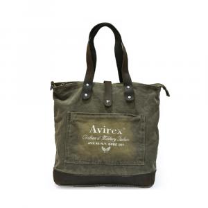 Avirex - 140506 - Borsa da spesa shopping donna 1 scomparto verde militare cod. G