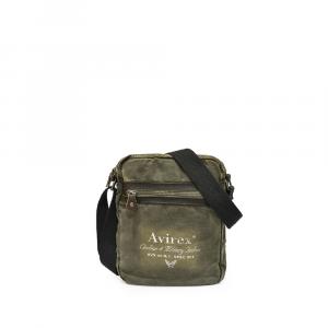 Avirex - 140506 - Borsa a tracolla unisex grande L 1 scomparto verde militare cod. H