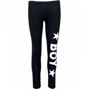 LEGGINGS BOY DONNA BLD1776 NERO CON STAMPA