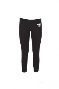 LEGGINGS BOY DONNA BLD2026 NERO CON STAMPA