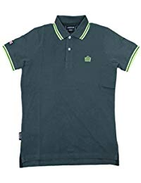 T SHIRT POLO ADMIRAL GREY/GREEN ADM730