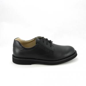 Scarpa bimbo elegante con lacci colore nero per paggetto e comunione.