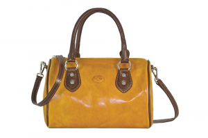 CUOIERIA FIORENTINA Leather Satchel bag ladies leather Yellow  Italian Style