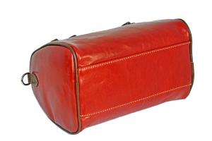 CUOIERIA FIORENTINA Italian Leather Satchel leather woman purse Red / Bicolor Handmade