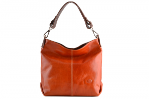 CUOIERIA FIORENTINA Italian bag leather handles removable leather Female Orange