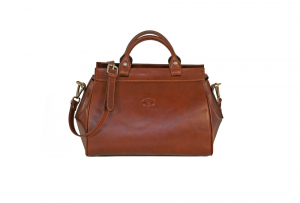 CUOIERIA FIORENTINA bag lady doctor Leather Brown leather bag  Italian Style