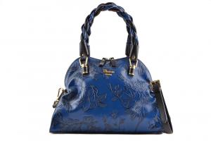 CUOIERIA FIORENTINA printed calfskin leather woman bag Blue Italian Style