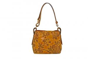 CUOIERIA FIORENTINA bag printed leather Female Calf Mimi beige  Italian Style