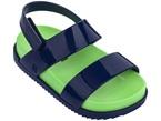 Sandali blu e verdi con chiusura in velcro